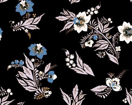 stock vector seamless flower, doodle pattern. abstract art background Foto de archivo - 127386050