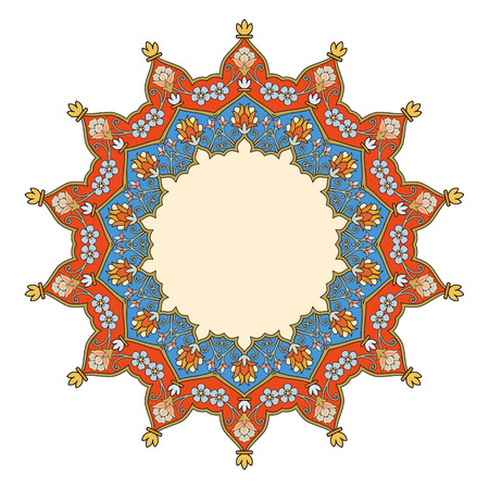 middle eastern: Vector abstract pattern background of traditional mandala designs Illustration