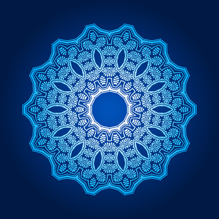 Vector abstract pattern background of traditional mandala designs Vector