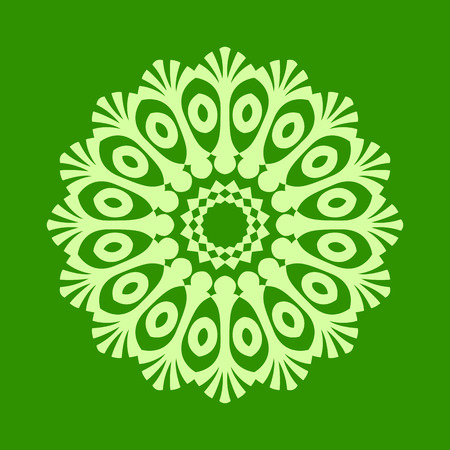 middle eastern: Round pattern - abstract design of circular ornamental elements Illustration