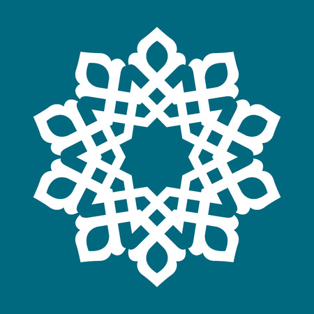 eastern religion: Round pattern - abstract design of circular ornamental elements Illustration