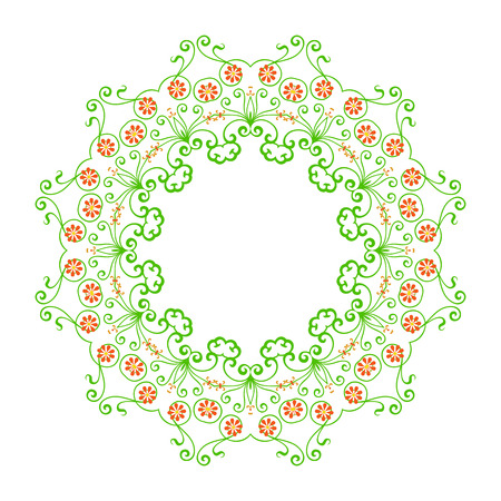 Round pattern - abstract design of circular ornamental elements Vector