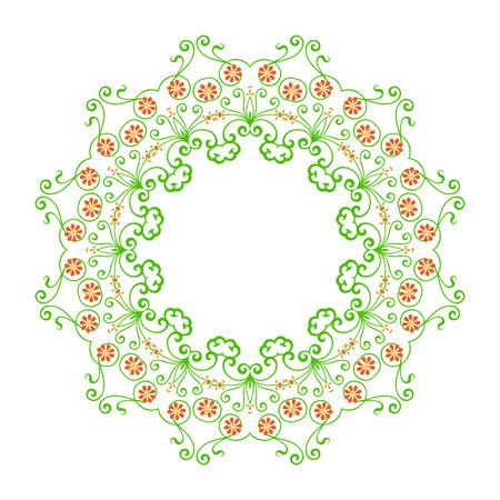 iranian: Round pattern - abstract design of circular ornamental elements Illustration