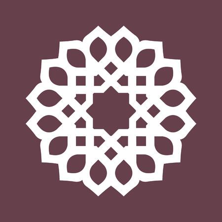 Rond patroon - abstract ontwerp van circulaire sierelementen Stock Illustratie