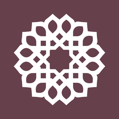 persian culture: Round pattern - abstract design of circular ornamental elements Illustration