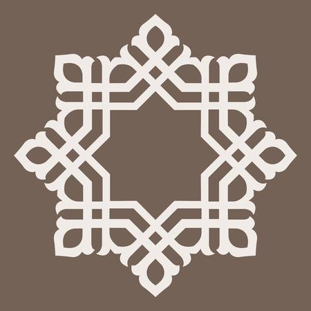 抽象的な円形の装飾的な要素の設計パターン - ラウンド