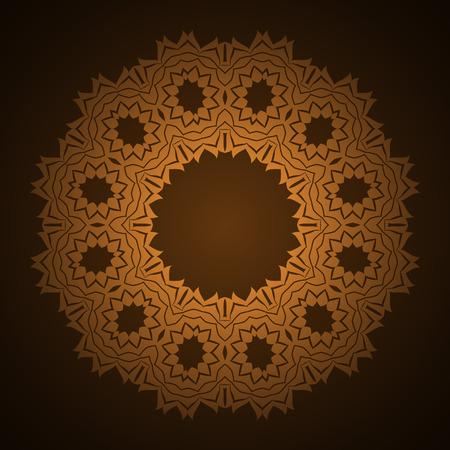 abstract circular pattern design mandala style. Round Pattern Mandala.  Vector