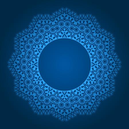 arabic motif: abstract circular pattern design mandala style. Round Pattern Mandala.