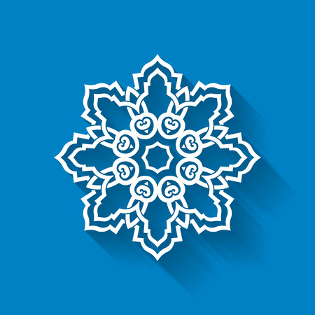 Snowflake abstract design. Vector snowflake design element can be used for Christmas, Xmas, winter and snow based design projects. Vector