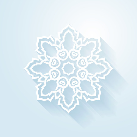 white winter: Circular abstract background - Design elemnt