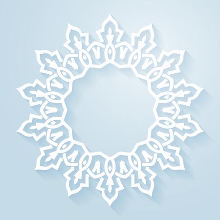 christmas motif: Circular abstract background - Design elemnt