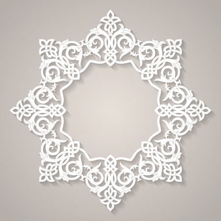 christmas motif: Round Pattern Abstract Design Element