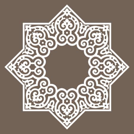 iranian: Circular abstract background, round pattern decorative element Illustration