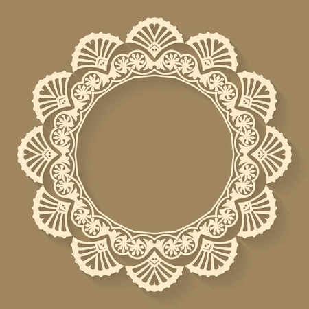 Circular abstract background, round pattern decorative element Vector
