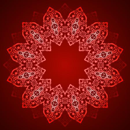 円形パターンの装飾的な要素、円形の抽象的な背景