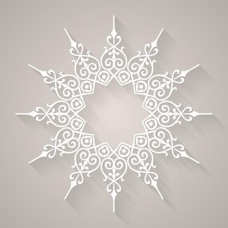 iranian: Decorative element round pattern