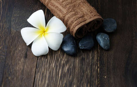plumeria on a white background: Spa and Wellness Concept