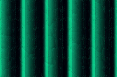 streak plate: Decorative vertical striped shiny relief wall - emerald