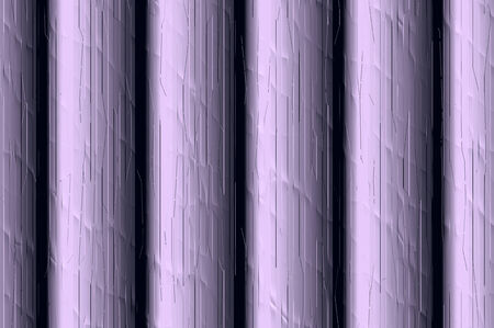 streak plate: Decorative vertical striped shiny relief wall - lilac