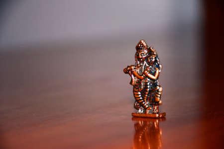 Statue of Lord Radha Krishna, Metal Statue, Hindu Religion God