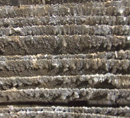 Slag Covered Grate Stok Fotoğraf