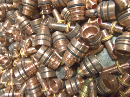 guarniciones: Accesorios de bronce Foto de archivo