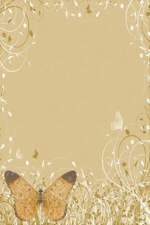 browm ornament butterflies letter photo