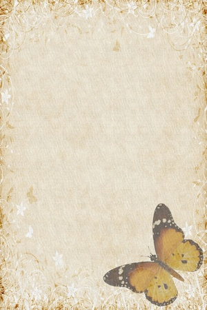 Butterflies texture letter brown photo