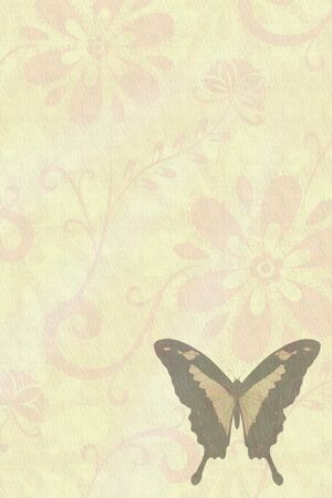 Butterflies texture letter flower photo