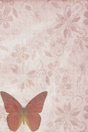 Butterflies texture letter old red photo