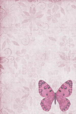 Butterflies texture letter pink photo