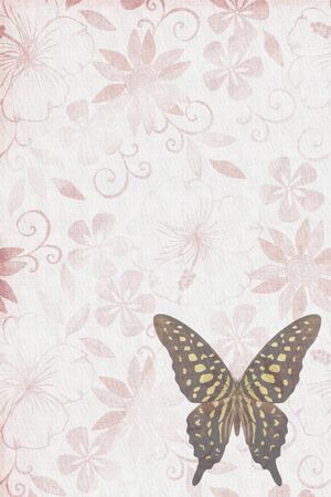 Butterflies texture letter red brown photo