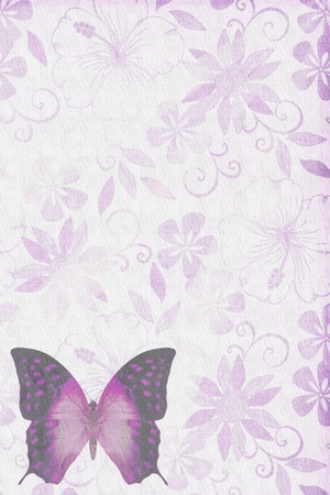 purple butterfly: Butterflies texture letter purple