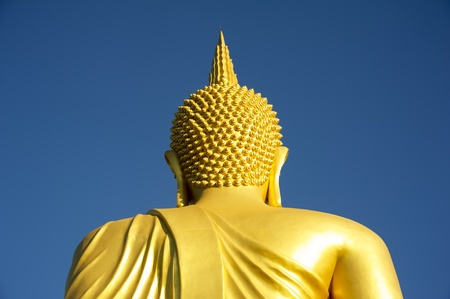 The rear buddha statue blue sky photo