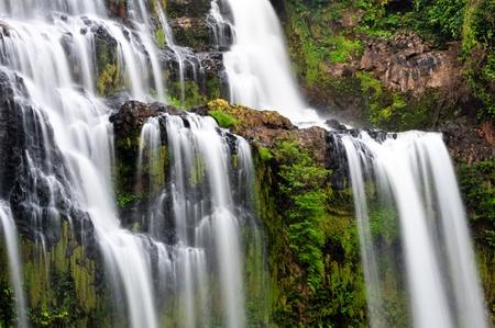 Waterfall nature  brook cascade creek