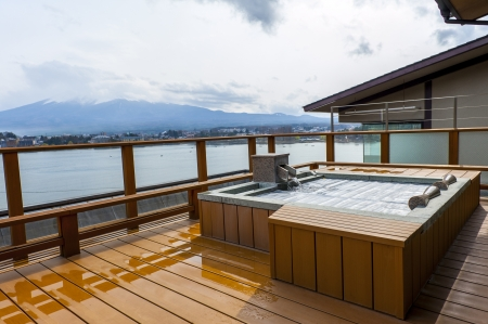 baño: onsen en Japón Foto de archivo