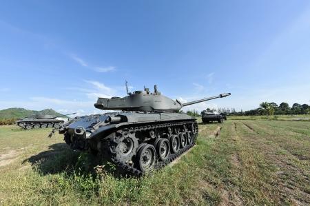 Big tank in the garden and blue sky Standard-Bild