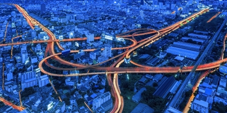Night view of the city Standard-Bild