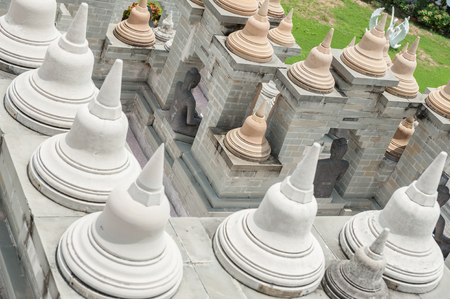 Pagoda models in Thailand photo