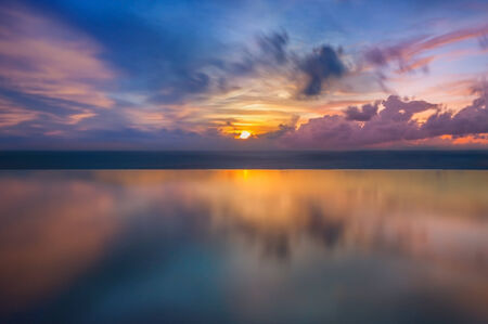 Sunset in the sea in Thailand photo