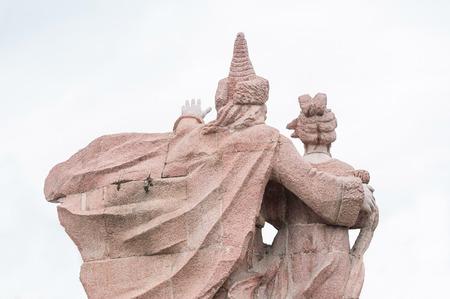 sir walter scott: Stone sculpture Prince Stock Photo