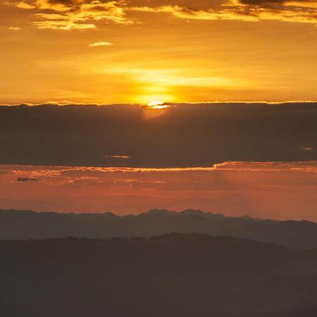 valley view: Tramonto a Valley View Archivio Fotografico