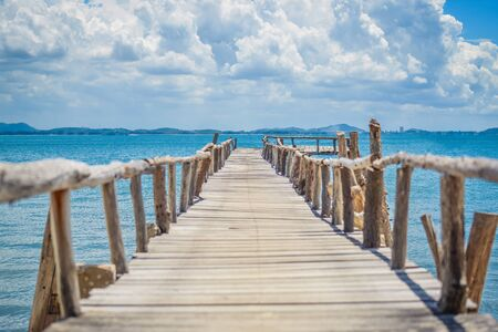 woodenrn: Seaside wooden bridge