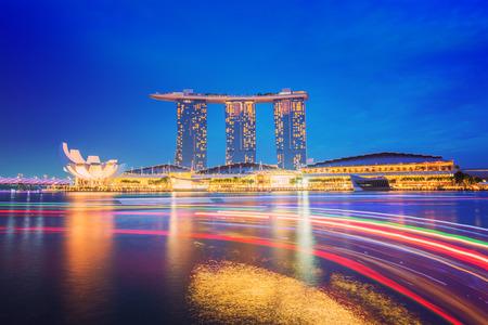 Singapore cityscape night view