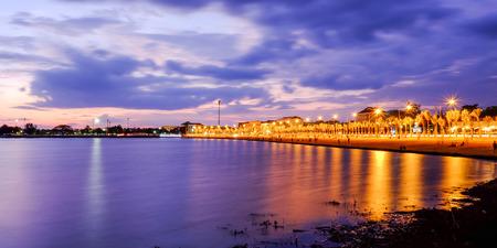 Night beach photo