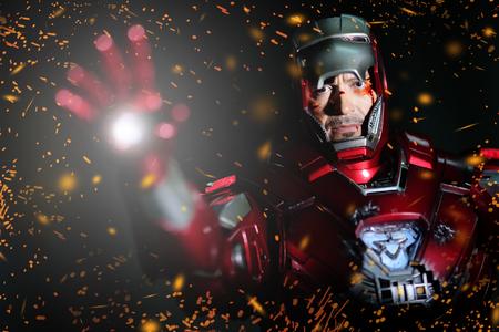 Iron Man: BANGKOK - MAY 21,2014 : Iron Man model room on display in Thailand 2014 on May 21, 2014 at Bangkok, Thailand.