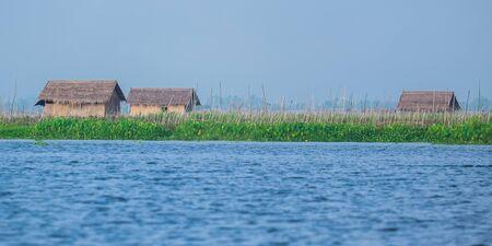inle: Floating village at Inle Lake, Myanmar