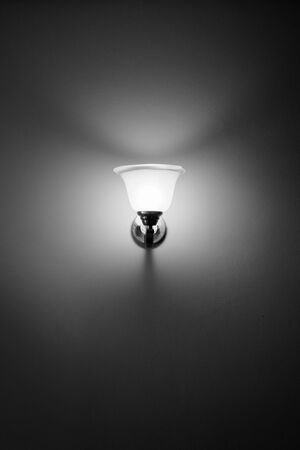 wall sconce: Wall lamp black and white