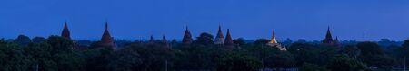 bagan: Panorama temples in Bagan, Myanmar Stock Photo