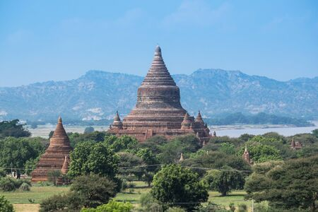 sight seeing: Pagoda in Bagan, Myanmar at day light Stock Photo